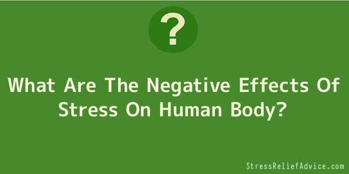 What Are The Negative Effects Of Stress On Human Body