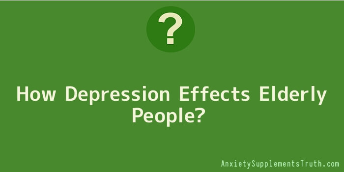 How Depression Effects Elderly People